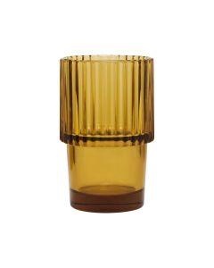 Drikkeglas, Rills. - Amber/Brun - House Doctor