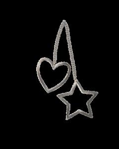 Juleornament - sølv - Tiny lover - Au Maison