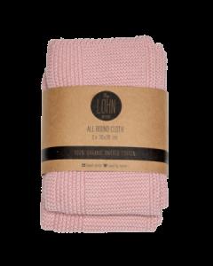 Hæklede klude - Baby pink - Økologiske - By Lohn