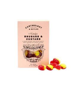 Rhubarb & Custard Sweets - Cartwright and butler - 190g.