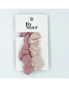 Kira Scrunchie – 2-pak – Lyserød Mix - By Stær