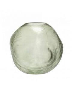 Vase - Grønt glas - Hübsch