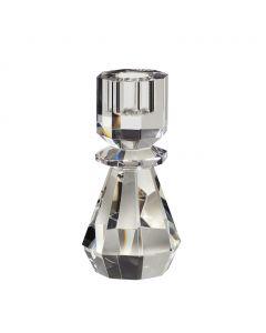 Lysestage, Krystal glas, Klar - Hübsch