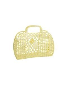 Retro Basket, Large - Gul - Sun Jellies