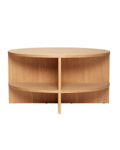Sofabord, rundt, egetræ - Hübsch