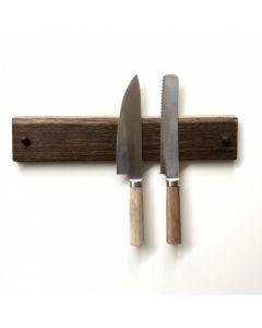 Knivholder m/5 magneter - Røget eg - By Brorson