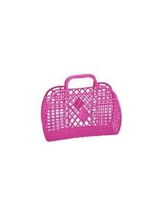 Retro Basket, Large - Pink - Sun Jellies